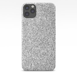 Beautiful Silver glitter sparkles iPhone Case
