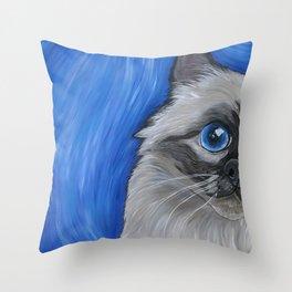 Birman Cat Throw Pillow