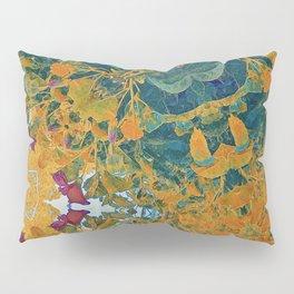 Orange and Green Flora Pillow Sham