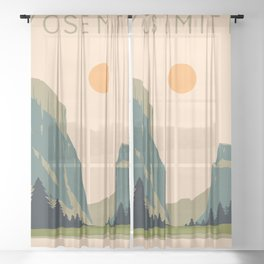 Yosemite Valley Sheer Curtain