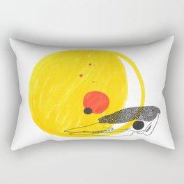 Desert Sun Skeleton Rectangular Pillow