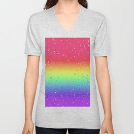 Rainbow Fairy Kei Pattern Unisex V-Neck