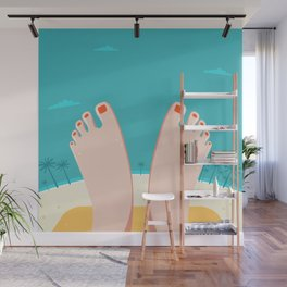 Feet on Beach Wall Mural