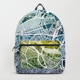 Boston Massachusetts Street Map Backpack
