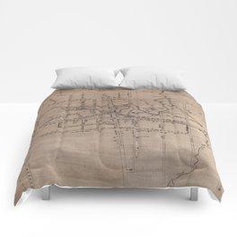 Vintage Map of Fayetteville North Carolina (1822) Comforters