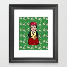 Kokeshi Frida Kahlo Framed Art Print