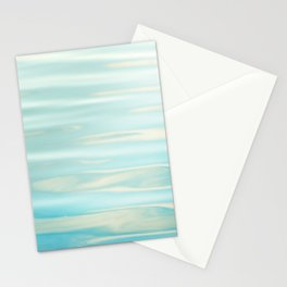 Water Ripples Photography, Aqua Blue Ocean Abstract Art, Turquoise Sea, Seascape Stationery Cards