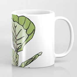 Lined Fig Tree and Blue Butterfly Coffee Mug