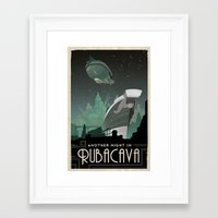 grim fandango Framed Art Prints featuring Grim Fandango Vintage Travel Poster - Rubacava by David MacKenzie