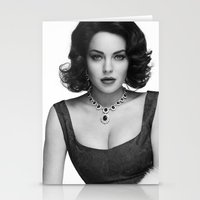 lindsay lohan Stationery Cards featuring Lindsay Lohan as Elizabeth Taylor by OUR PRINCE OF PEACE
