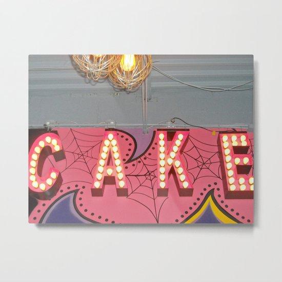 Cake ~ pop carnival signage Metal Print