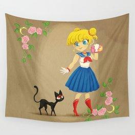 Retro Sailor Moon Wall Tapestry