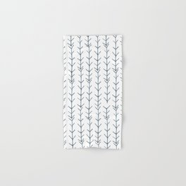 Twigs and branches freeform gray Hand & Bath Towel