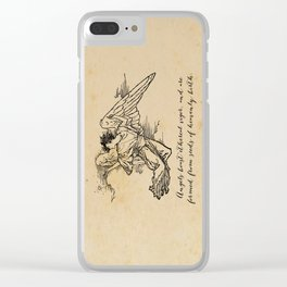 Virgil - Angels Clear iPhone Case