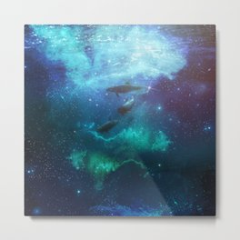 Mystic dolphins Metal Print
