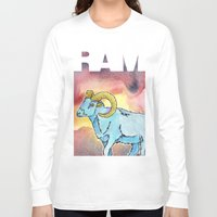 ram Long Sleeve T-shirts featuring RAM by David Napier