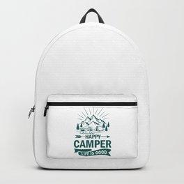 Happy Camper Life Is Good gr Backpack