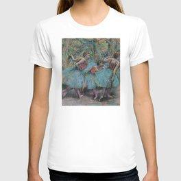 Edgar Degas - Three Dancers (Blue Tutus, Red Bodices) T-shirt