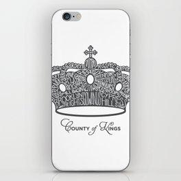 County of Kings | Brooklyn NYC Crown (GREY) iPhone Skin