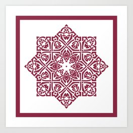 Red Geometric Art Art Print