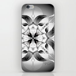 Mandala ~ Year of the Goat (black & white) iPhone Skin