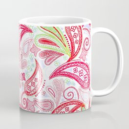Red Green Blue Spring Paisley Coffee Mug