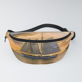 Sunset Sail and Plane Fanny Pack