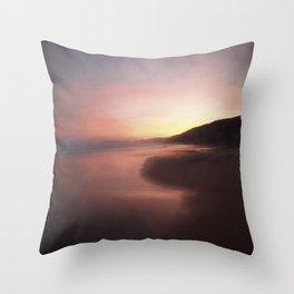 Sunrise on the coast Throw Pillow