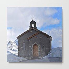 Chapel on the mountain Metal Print