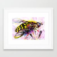 bee Framed Art Prints featuring Bee by shadow chen