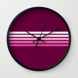 Kihei - Classic Retro Stripes Wall Clock