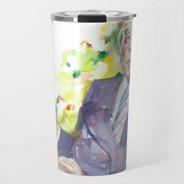BORGES - watercolor portrait.3 Travel Mug