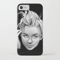 miley cyrus iPhone & iPod Cases featuring Miley Cyrus by anomaly alice