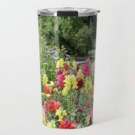 English Country Garden Scene Travel Mug