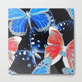 Artistic colorful flock of butterflies Metal Print