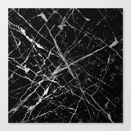Silver Splatter 090 Canvas Print