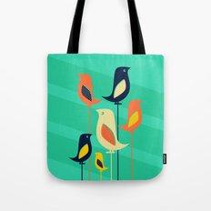 Mid Century Birds Tote Bag