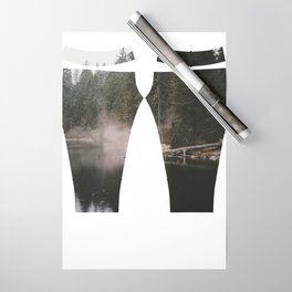 In the Fog - Landscape Photography Wrapping Paper