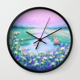Pools of Blessing After Rain Wall Clock
