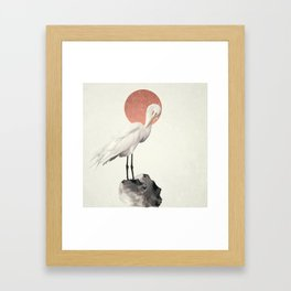 White Wings Framed Art Print