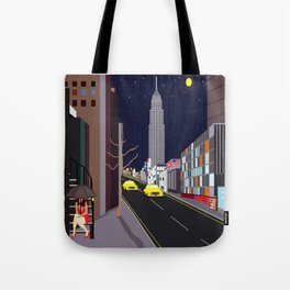 Raining in Manhattan Tote Bag