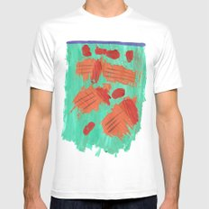 Traces on a grass... White Mens Fitted Tee MEDIUM