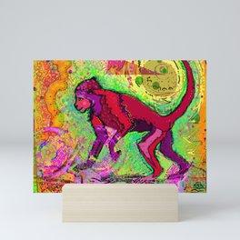 Monkey dreamer Mini Art Print