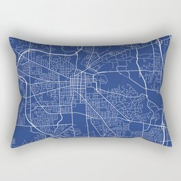 Ann Arbor Map, USA - Blue Rectangular Pillow