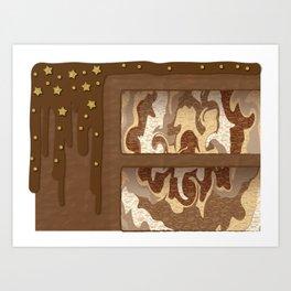 Cake Slice - Choco Marble Art Print