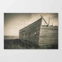 Roofless Barn, Backroads Farmstead, Valley County, MT Canvas Print