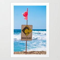 High Surf Art Print