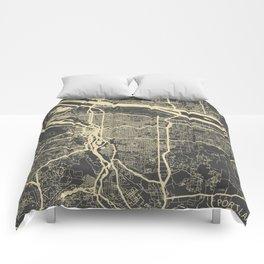 Portland Map Comforters