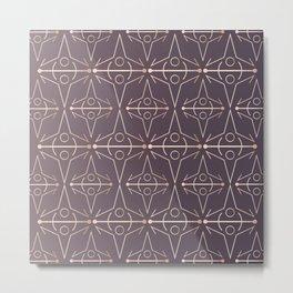 Charcoal Mythology Textile Metal Print