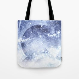 Even mountains get cold Tote Bag